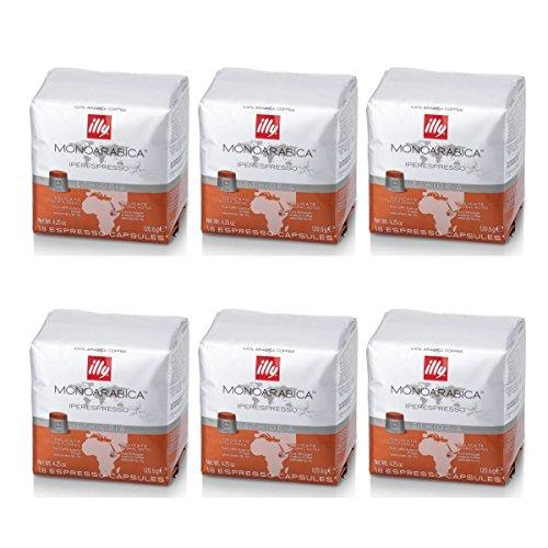 Illy - 6 paquetes de 18 cápsulas...